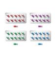 medicine painkiller pills packaging realistic 3d vector image