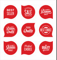 modern sale badges collection vector image vector image