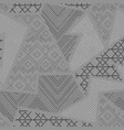 monochrome tribal cloth seamless texture vector image