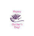 mothers day hand drawn greeting card with flower vector image vector image