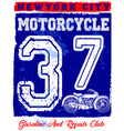 motorcycle poster design fashion tee graphic vector image vector image