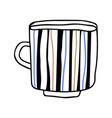 mug on white background tableware vector image vector image