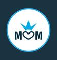 mum icon colored symbol premium quality isolated vector image vector image