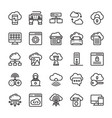 network and cloud computing line icon collection vector image vector image