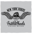 new york riders poster vector image vector image