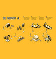 oil industry production path isometric vector image