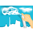 painting sky vector image vector image