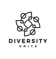 people family diversity outline logo icon vector image