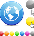 Planet glossy button vector image vector image