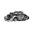 retro hotrod car clipart cartoon vector image vector image