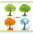 seasons tree vector image vector image