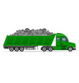 semi truck trailer concept 10 vector image vector image