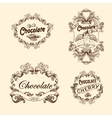 set of chocolate labels design elements vector image