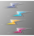Set of glass lightning icon vector image vector image