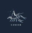 sign zodiac cancer vector image