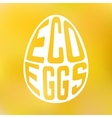 silhouette egg with text inside on blur vector image vector image