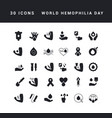 simple icons world hemophilia day vector image vector image