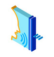 sound coming from person isometric icon vector image vector image