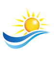 sun and water waves design elements vector image vector image