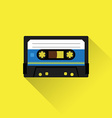 Tape cassette icon vector image vector image
