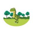 tyrannosaur dinosaur cartoon vector image vector image