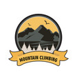 vintage colored mountain climbing labels vector image vector image