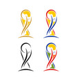 world cup soccer trophy vector image