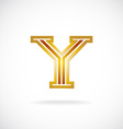 Y letter logo template Golden colors vector image vector image