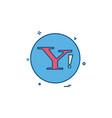 yahoo social icon design vector image