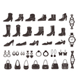 Shoes and accessories vector image