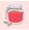 cartoon jam jar vector image