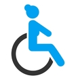 Disabled Woman Flat Icon vector image
