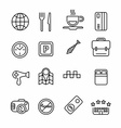 Hotel or apartments and travel icon vector image