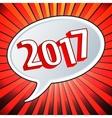 2017 Year speech bubble vector image vector image