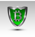 3d shield icon for bitcoin protection vector image vector image