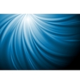Abstract blue swirl wave background vector image vector image