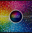 abstract colorful disco background vector image vector image