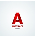 Abstract logo with A letter vector image vector image
