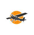 airplane transportation logo vector image