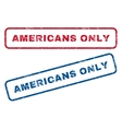 Americans Only Rubber Stamps vector image vector image