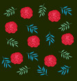 beautiful roses and leafs decorative pattern vector image