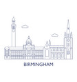 birmingham the most famous buildings of the city vector image vector image