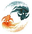 black carp goldfish vector image vector image