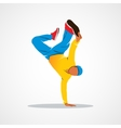 Breakdance silhouette man vector image vector image