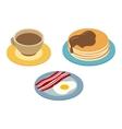 Breakfast isometric 3d icon vector image vector image