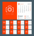 calendar for 2018 year week starts on sunday vector image vector image