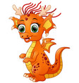 cartoon baby dragon isolated on white background vector image