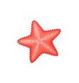 cartoon starfish icon vector image