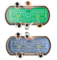 Casino furniture craps table top view set 9 vector image
