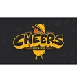 cheers lettering logo sketch vector image vector image
